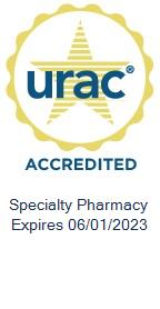 URAC seal. It features URAC in blue against a gold star.