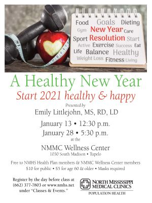 A Healthy New Year poster