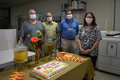 Brenda Hoing and coworkers honor retirement