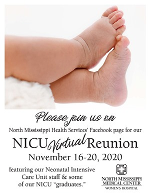 NICU virtual reunion poster