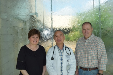 David and Lisa Silas with Dr. Tan