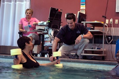 patient in aquatic therapy