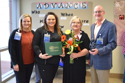 Crystal Gann receives Daisy award